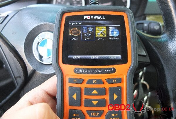 Foxwell NT510/520 for BMW Battery Registration & coding