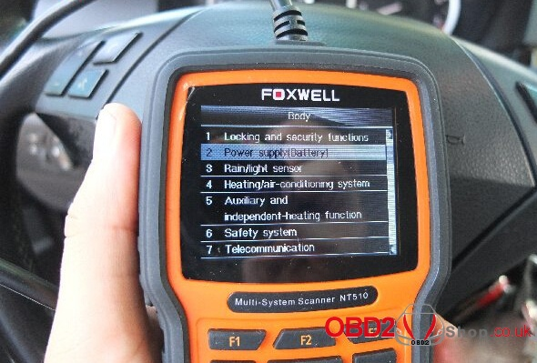 Foxwell NT510/520 for BMW Battery Registration & coding - 04